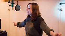 "Isy Suttie in the studio for ""The A-Z of Mrs P"""