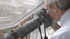 Royal photographer John Stillwell four floors above the Lindo Wing, St Mary's Hospital