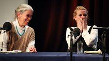 Sandy Knapp and Sara Pascoe enjoy a joke