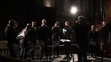 Tallis Scholars rehearsing Hassler's Gloria on Tuesday 17th December