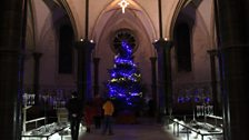 The Chirstmas tree at Temple Church