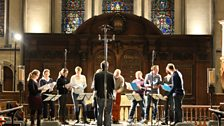 Tallis Scholars rehearsing at Temple Church