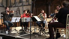 The Heath Quartet rehearse with Mark Simpson