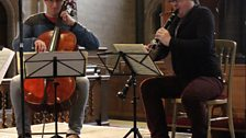 Christopher Murray (cello) and Mark Simpson (clarinet)