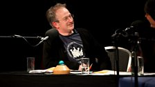Robin Ince in his Wear Your Old Band T-Shirt to Work Day t-shirt