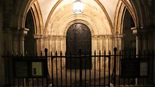 The Norman door at Temple Church
