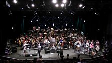 The BBC Concert Orchestra rehearsing the Christmas show