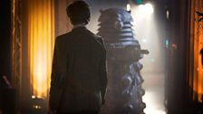 The Doctor faces the 'Stone Dalek'.