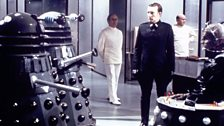 The Daleks' creator: Davros (far right).