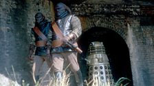 A Dalek with some of their henchmen – the brutal Ogrons!