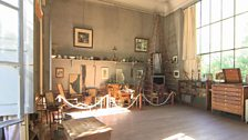 Paul Cézanne's studio has large picture windows to the North and the South to make maximum use of light