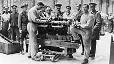 Servicemen at Halton, Buckinghamshire, where the newly-formed Royal Flying Corps started to train its technical staff.
