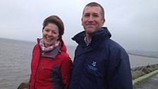 Helen and Andrew Upton, Coast and Countryside Manager on Strangford Lough