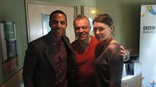 Marvin Humes and Emma Willis