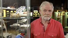 Presenter Dr George McGavin in the dissected lab