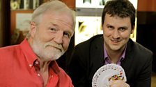 Dr George McGavin meets magician Kevin McMahon (right)