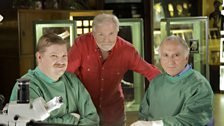 From left: Anatomist Dr Quentin Fogg, presenter Dr George McGavin and hand surgeon Donald Sammut
