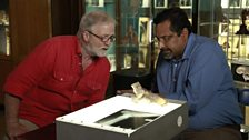 Dr George McGavin and Mr Kartik Hariharan (right) in the dissected lab