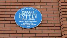 Wesley Greenhill Lyttle's Plaque at 85 Main Street, Bangor