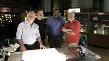 From left: Mr Donald Sammut – hand surgeon, Dr Quentin Fogg - anatomist, Mr Kartik Hariharan – foot surgeon; Dr George McGavin