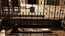 Katherine of Aragon's tomb in Peterborough Cathedral