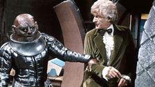The Third Doctor's trademark look: