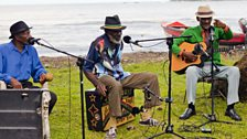Jolly Boys open-air recording session