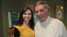 Strictly Come Dancing star and singing sensation Sophie Ellis-Bextor with Sir Terry.
