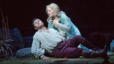 """Piotr Beczala as the Prince and Renée Fleming in the title role of Dvořák's """"Rusalka."""""""