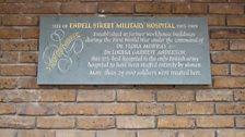 Endell Street Military Hospital plaque