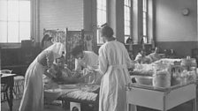 A ward round at the Endell Street Military Hospital.