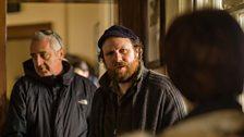 Rhodri Evans (who plays Dyfan Richard) with Mali Harries (DI Mared Rhys)