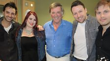 Jessica Clemmons and her band with Sir Terry