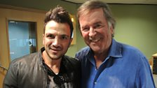 Peter Andre with Sir Terry