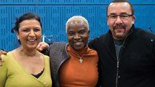 Lopa Kothari with Angelique Kidjo and Thierry Vaton
