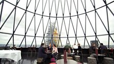 What was a 360 degree view from the top of 'the Gherkin' is now somewhat blocked by 'the Cheesegrater'.