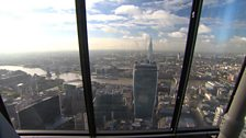 The view from near the tower's tip.
