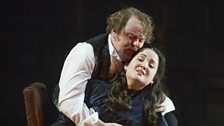 Barry Banks and Anna Christy as the Duke of Mantua and Gilda in Rigoletto at ENO
