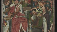 Master of the Aachen Altarpiece Christ before Pilate (Front of Panel), The Mass of Saint Gregory (Reverse Panel), about 1490-5