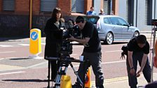 Behind the scenes:  Filming on Ormeau Avenue, Belfast