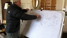 Al Blake explains the complex mapping system of his Green Burial Site