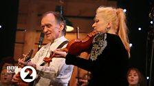 Martin Carthy and Eliza Carthy at the 2014 Folk Awards