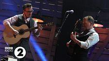 Martin Simpson and Richard Hawley  at the 2014 Folk Awards
