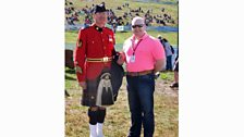 Pipe Major Graeme Ogilvie with Mark Wilson