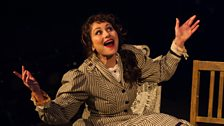 Frances Ruffelle as Bella in The A-Z of Mrs P