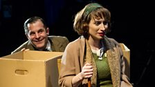 Michael Matus as Sandor & Isy Suttie as Mrs P in The A-Z of Mrs P