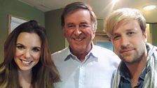 Sir Terry Wogan with husband and wife, Jodi Albert and Kian Egan