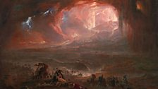 John Martin The Destruction of Pompei and Herculaneum 1822