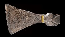 Silver-inlaid axehead in the Mammen style, AD 900s. Bjerringhøj, Mammen, Jutland, Denmark