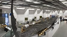 The installation of Roskilde 6 at the British Museum in the Sainsbury Exhibitions Gallery, January 2014